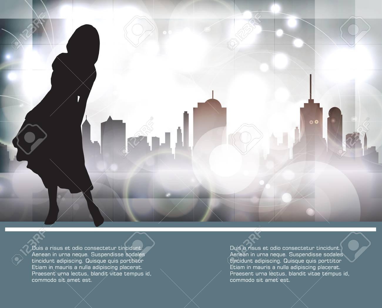 Silhouette of girl, vector Stock Vector - 18599586