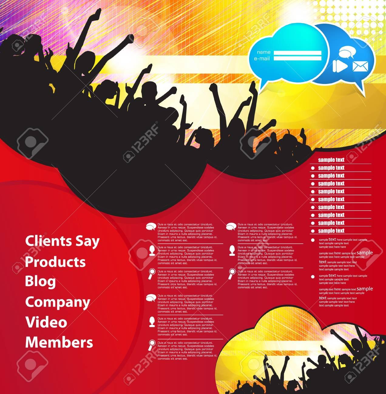 Music Website Template - Design Stock Vector - 18622251