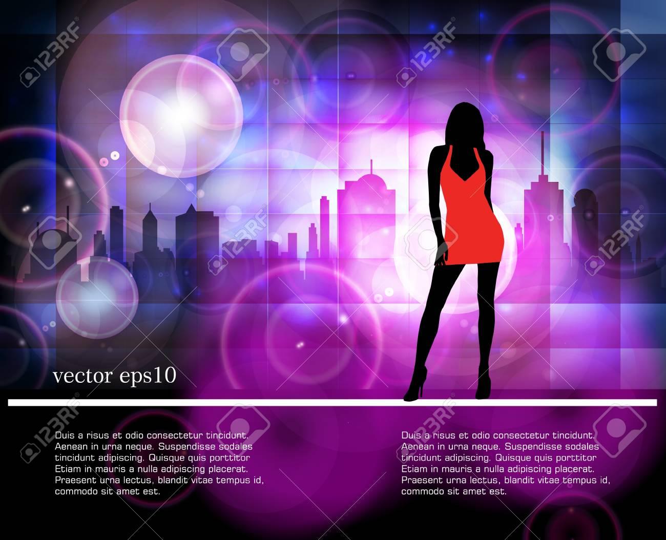 Silhouette of girl Stock Vector - 18622457