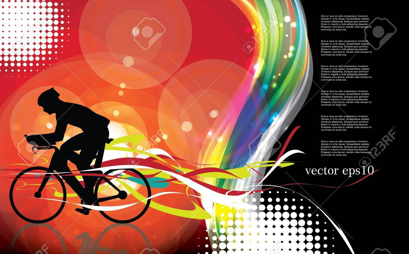 Cycling. Vector Stock Vector - 19050158