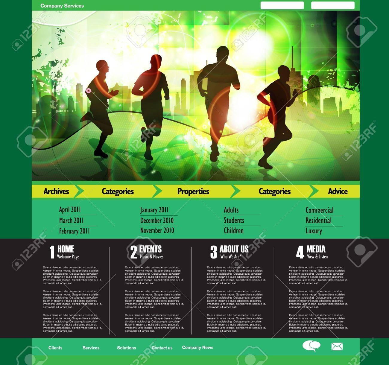 Web site design template, vector. - 19354093