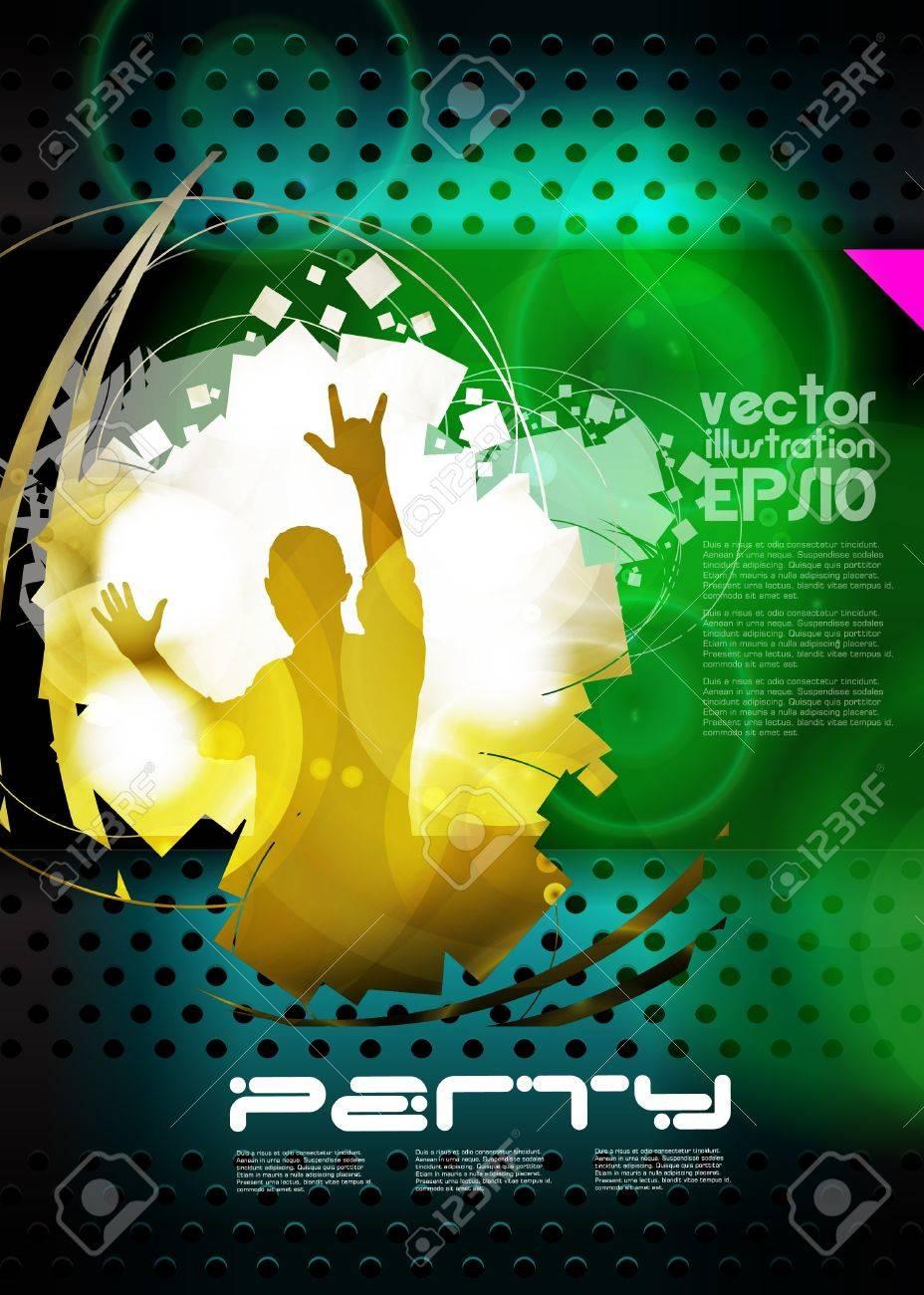 Music event background for poster. Vector eps10 illustration - 20046099
