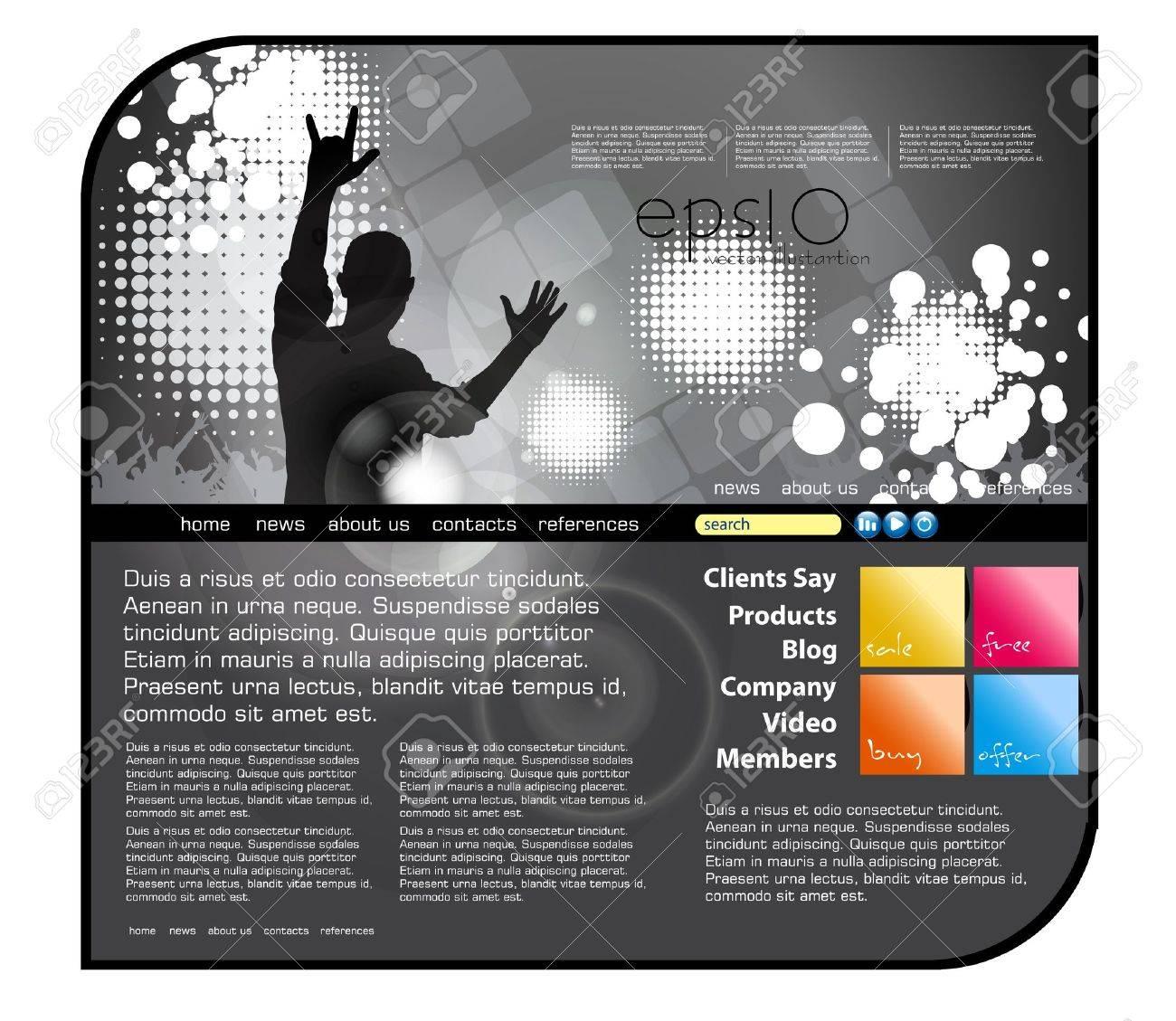 Website music template - 20913446