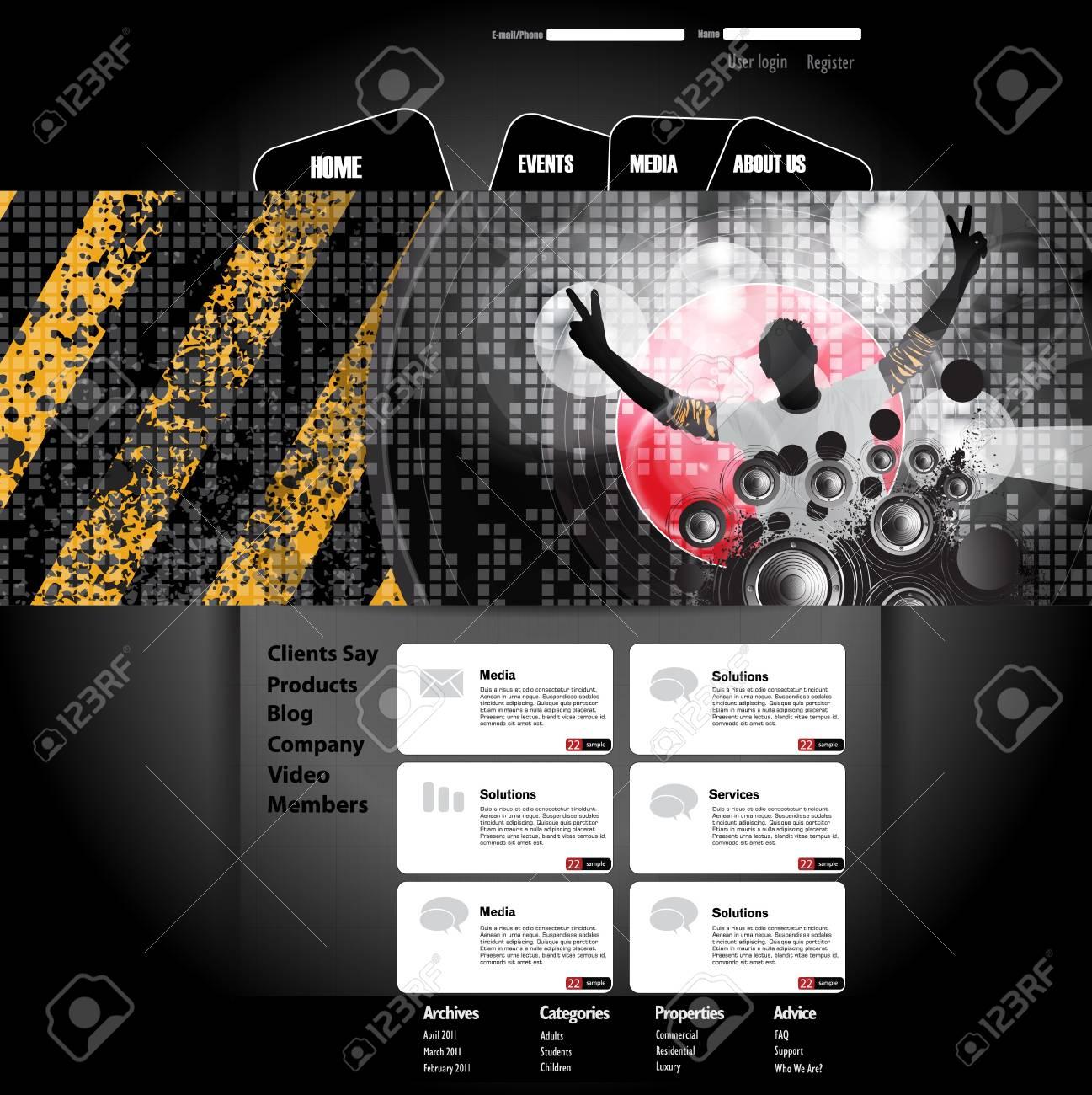 Website Template Stock Vector - 21017173