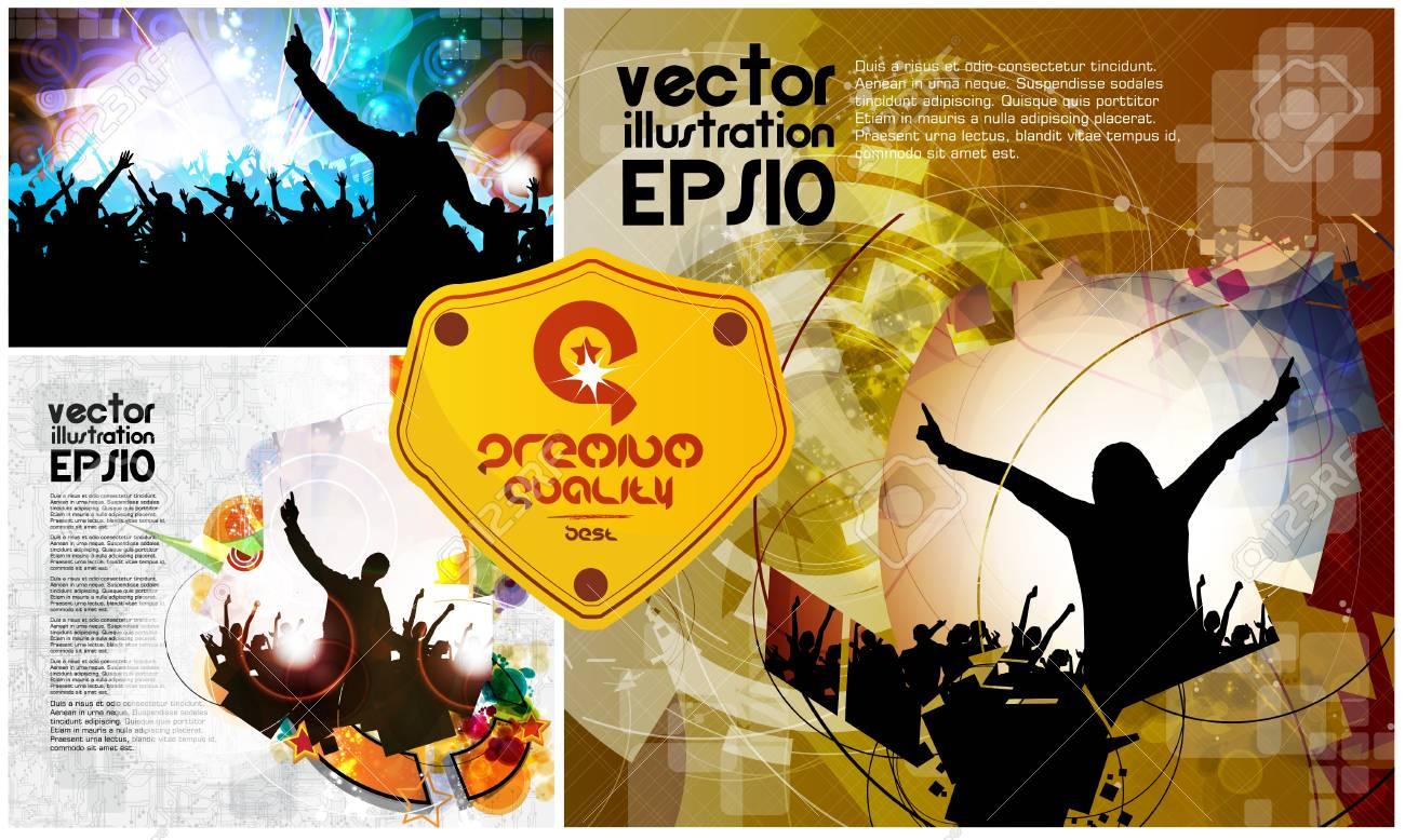 Vector set of dancing young people Stock Vector - 21911001