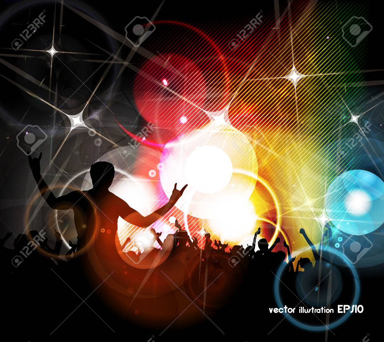 EPS10 party people vector background - 24017922
