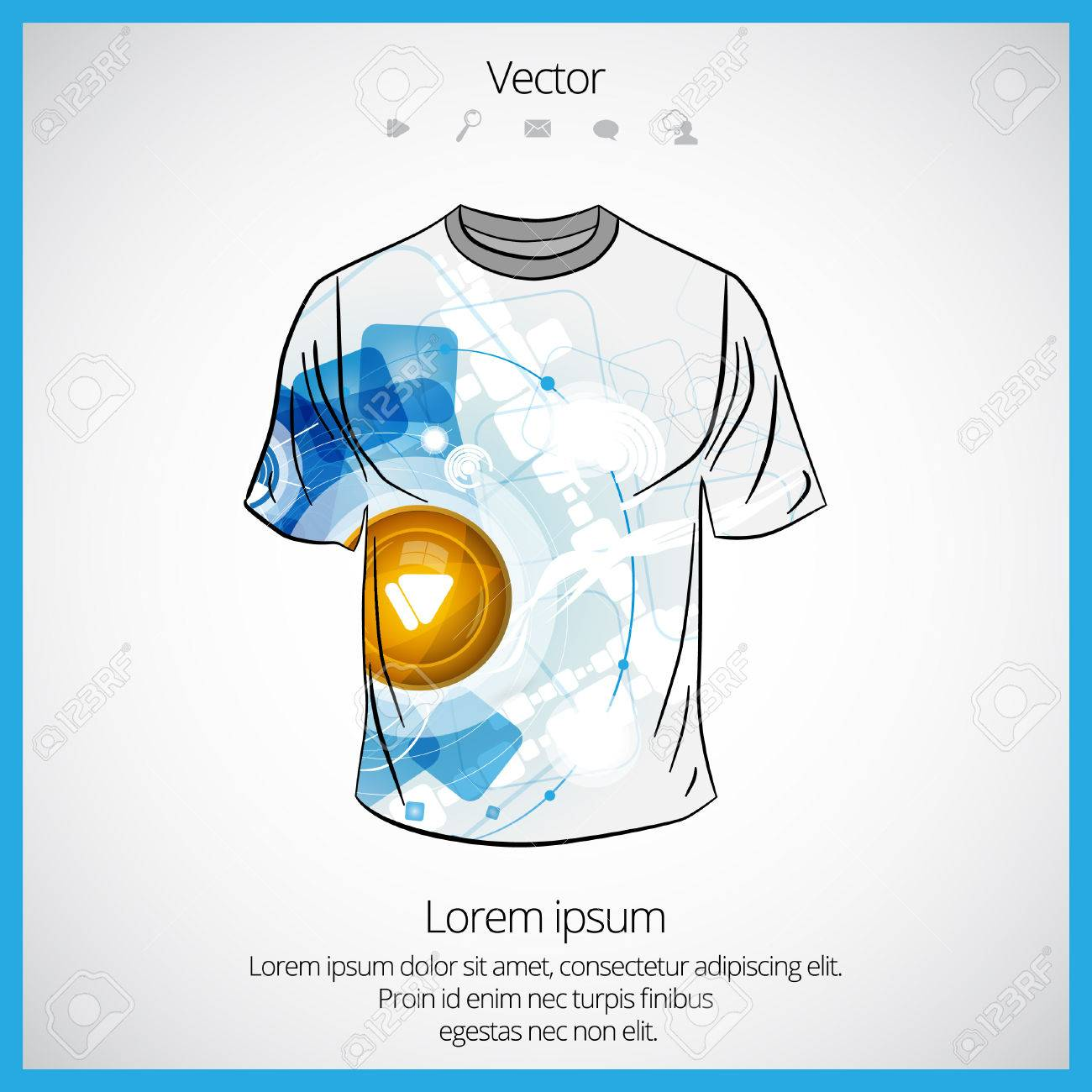 T Shirt Template Royalty Free Cliparts Vectors And Stock