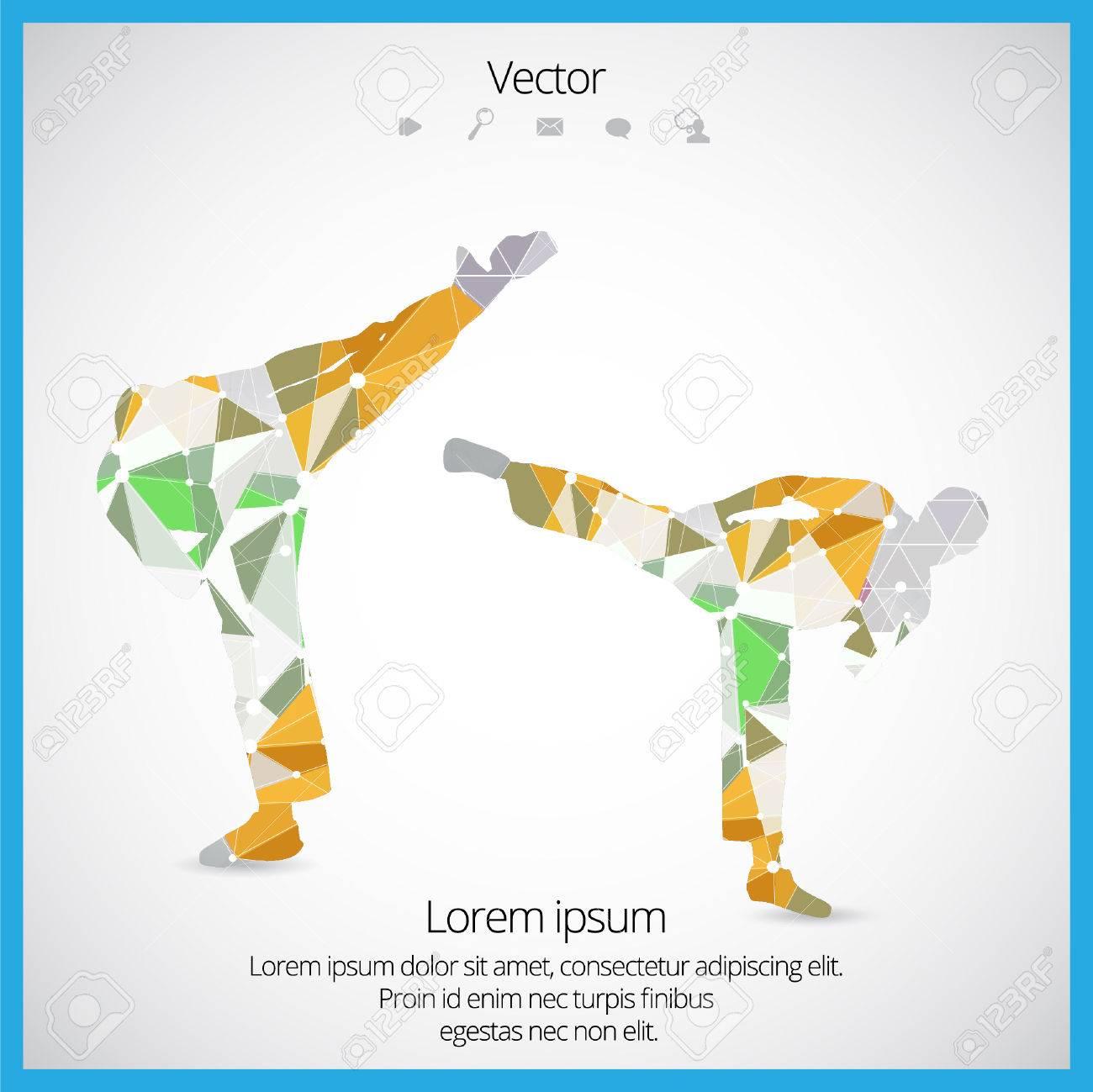 Illustration of karate. Vector - 37925593