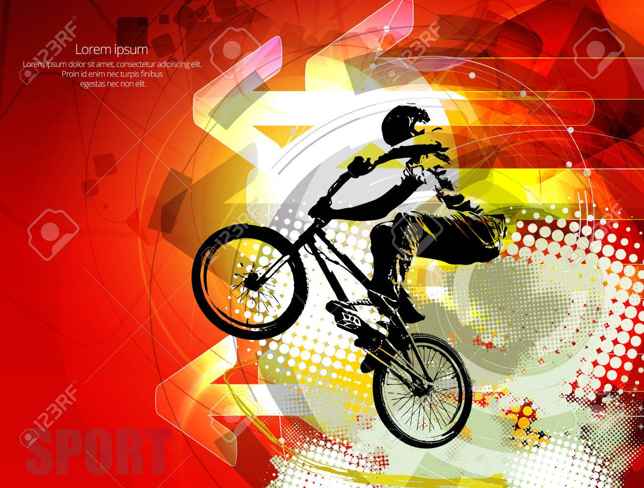 Vector image of BMX cyclist - 38706174