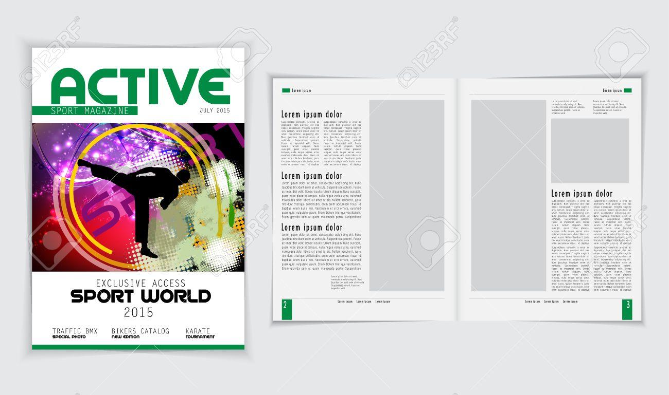 Magazine layout, vector - 43614485