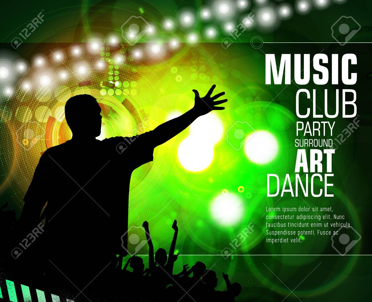 Disco Party Music Event Background For Poster Or Banner Royalty