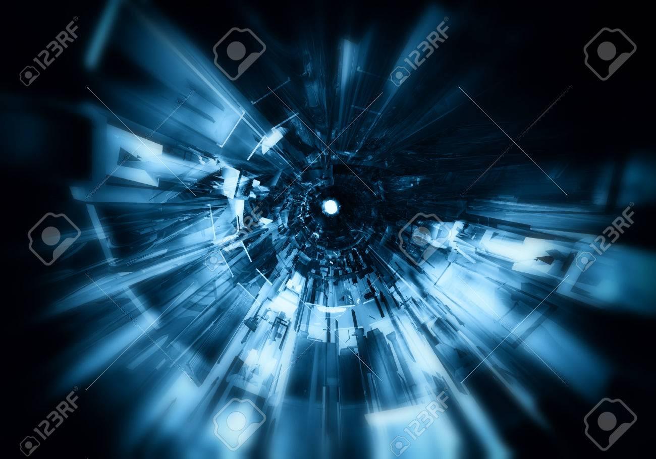 3D futuristic background - 49423792