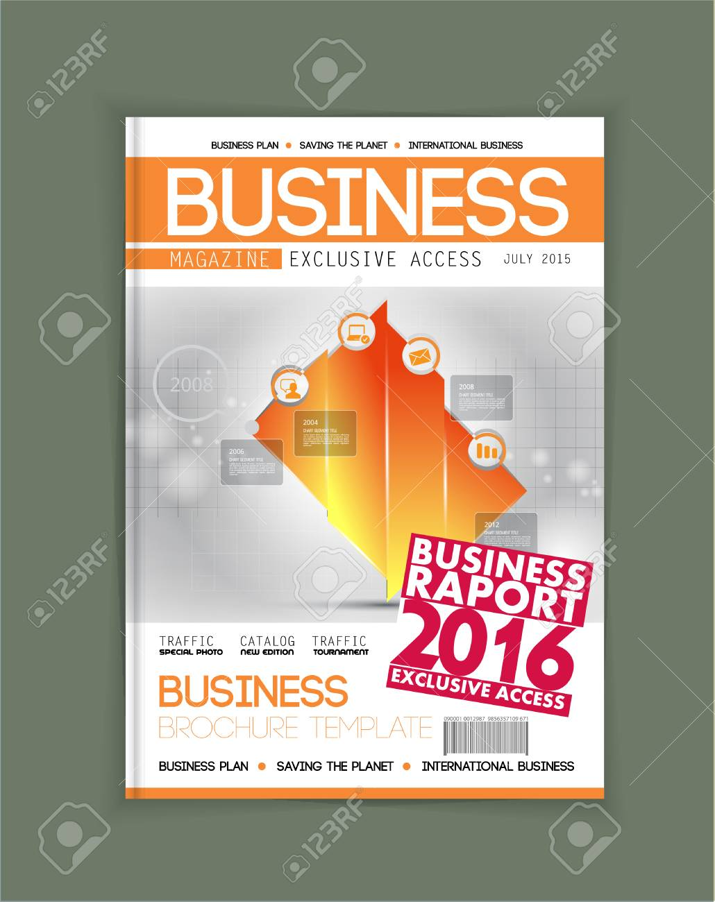 business magazine cover layout vector royalty free cliparts