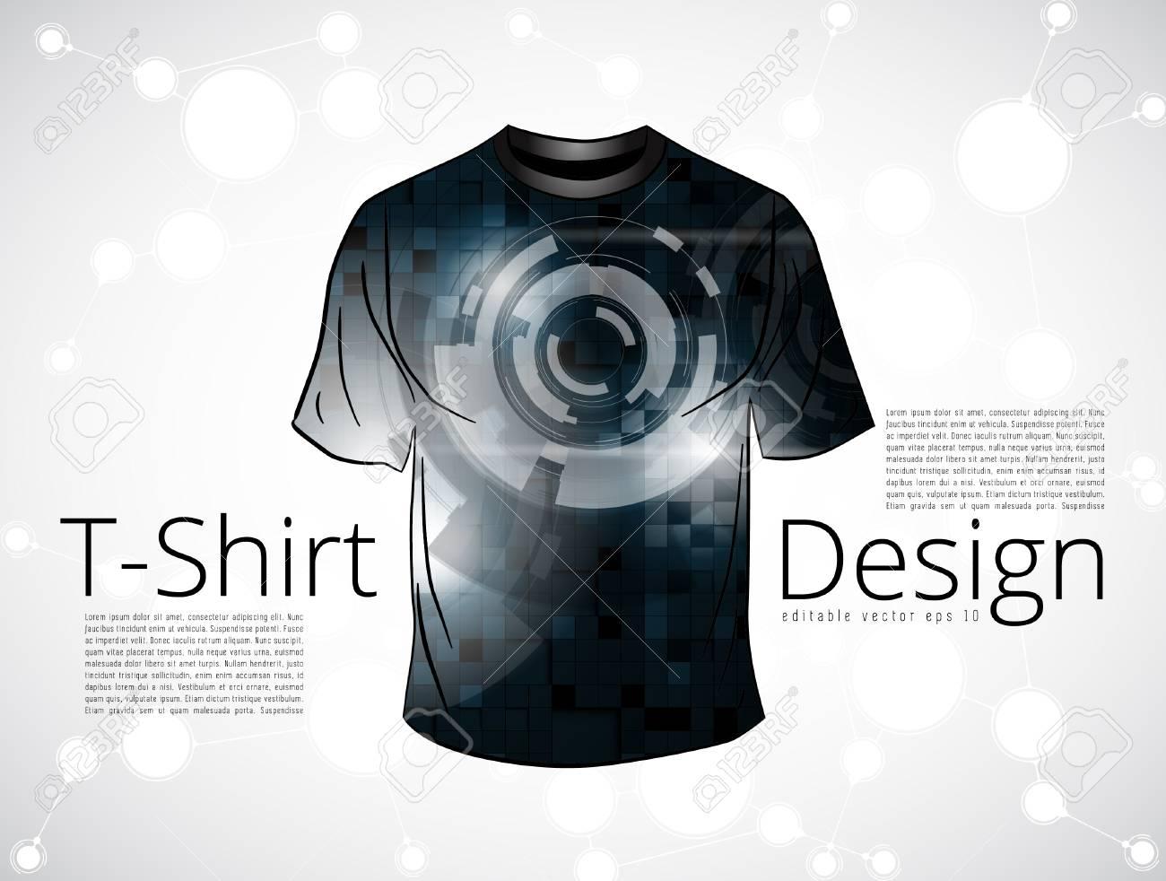 Camiseta Del Vector Plantilla De Diseño Ilustraciones Vectoriales ...