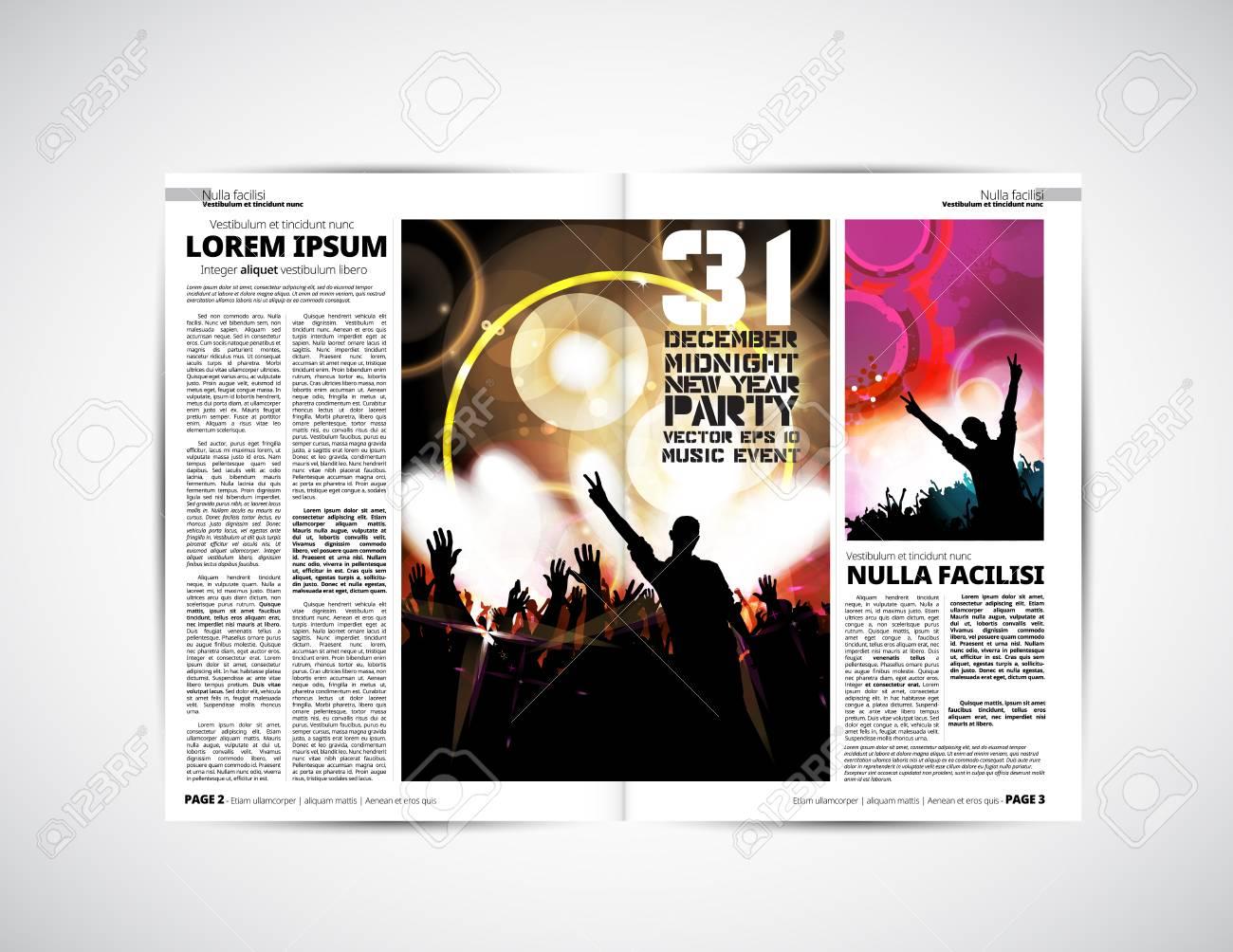 Periódico Plantilla De Diseño Ilustraciones Vectoriales, Clip Art ...