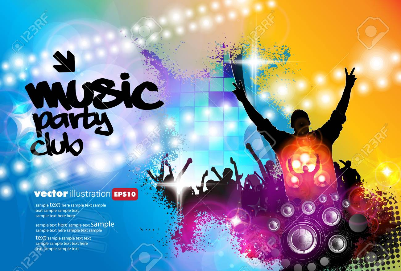 Big Music Event Background For Banner Or Poster Royalty Free