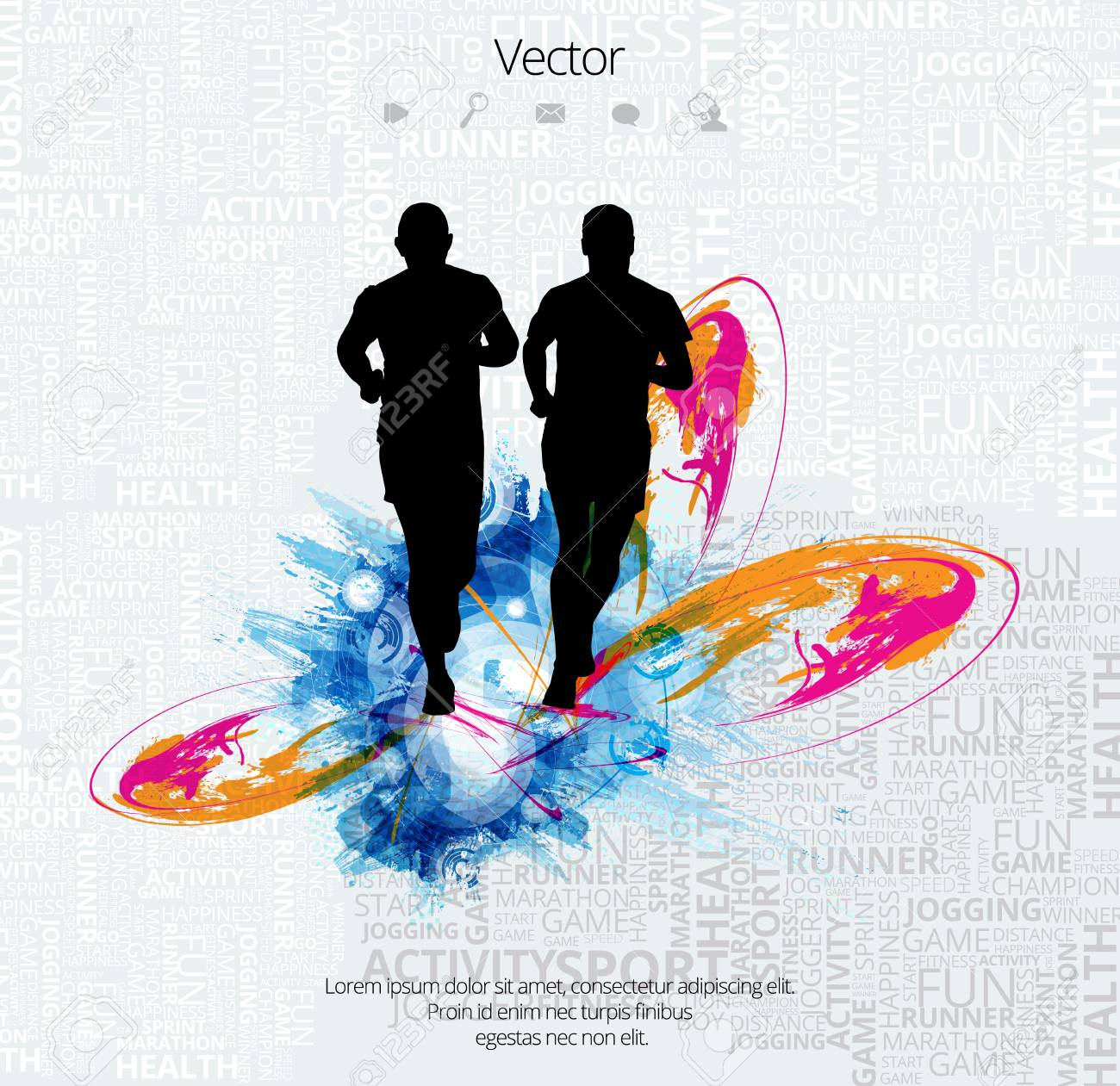 silhouette of marathon runner royalty free cliparts vectors and