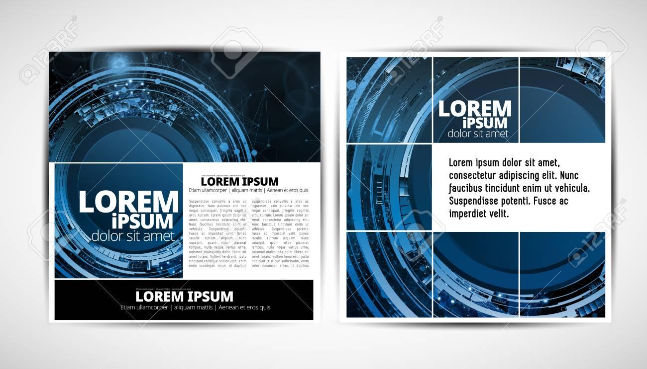 Graphics brochures design templates, vector illustration - 114140967