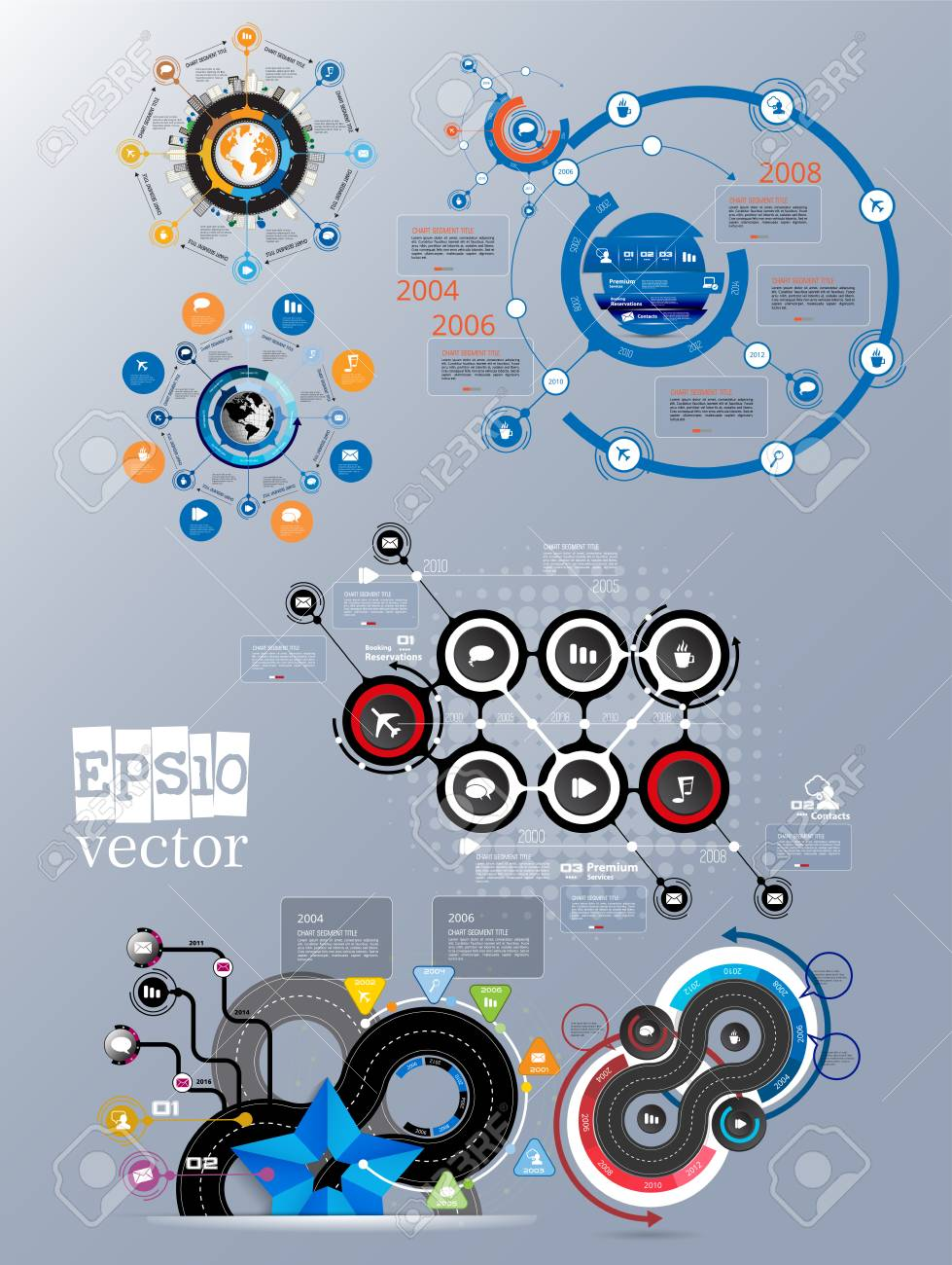 Infographic vector elements for business illustration - 120245935
