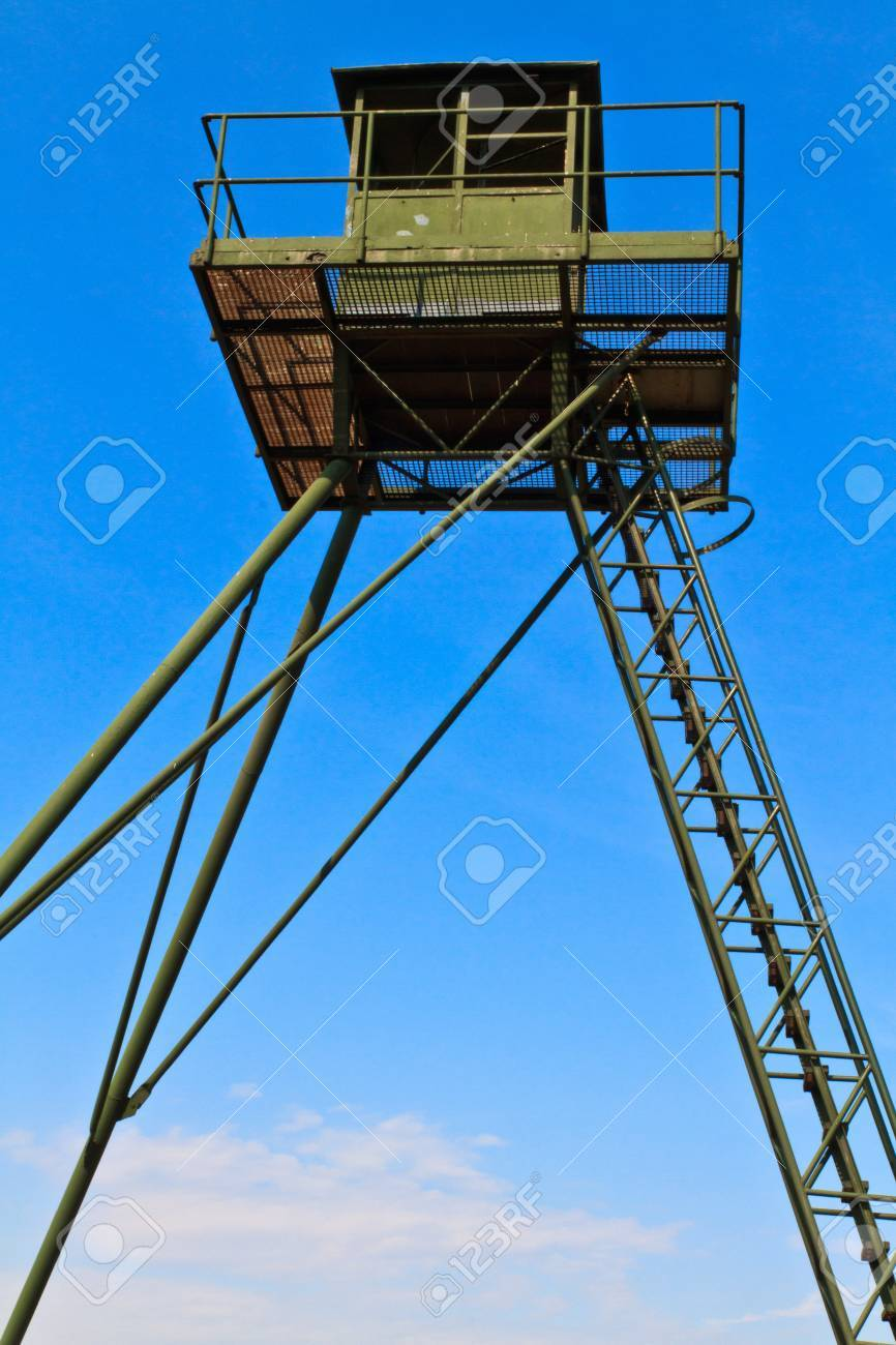 Iron curtain - Remains Of An Iron Curtain Watch Tower On The Border Between Austria And The Czech Republic