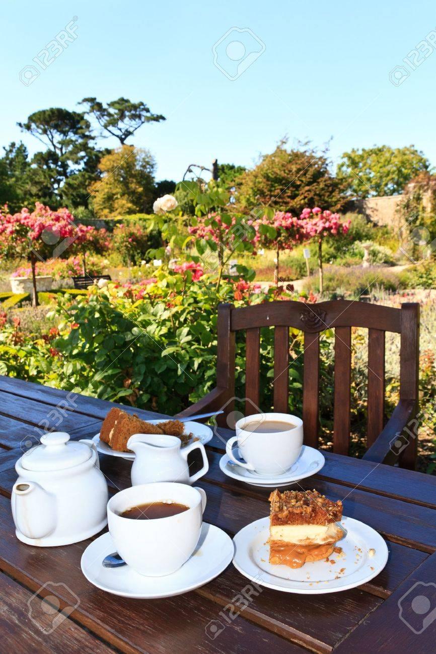 English Five o�Clock Tea in the garden Stock Photo - 11393083