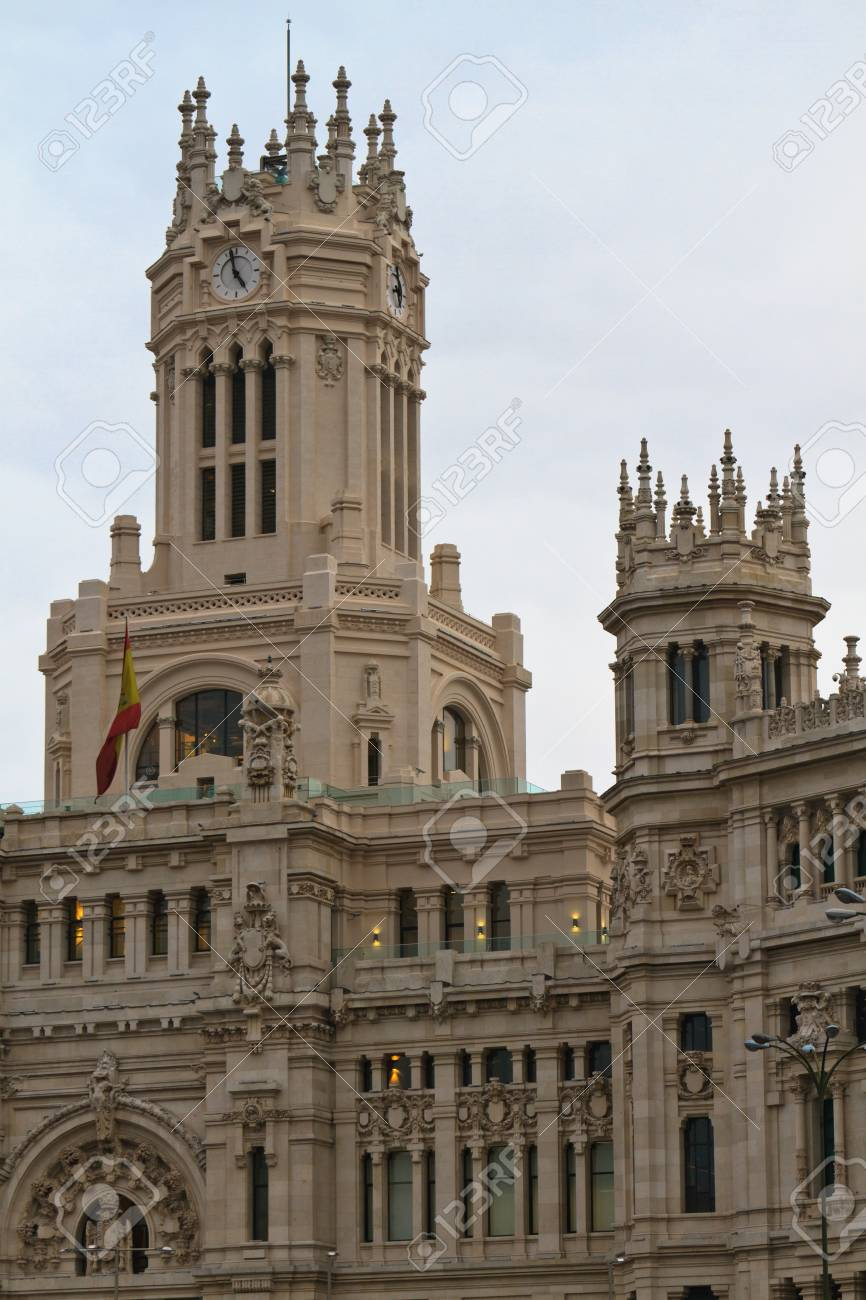 Palacio De Cibeles In Madrid Spain