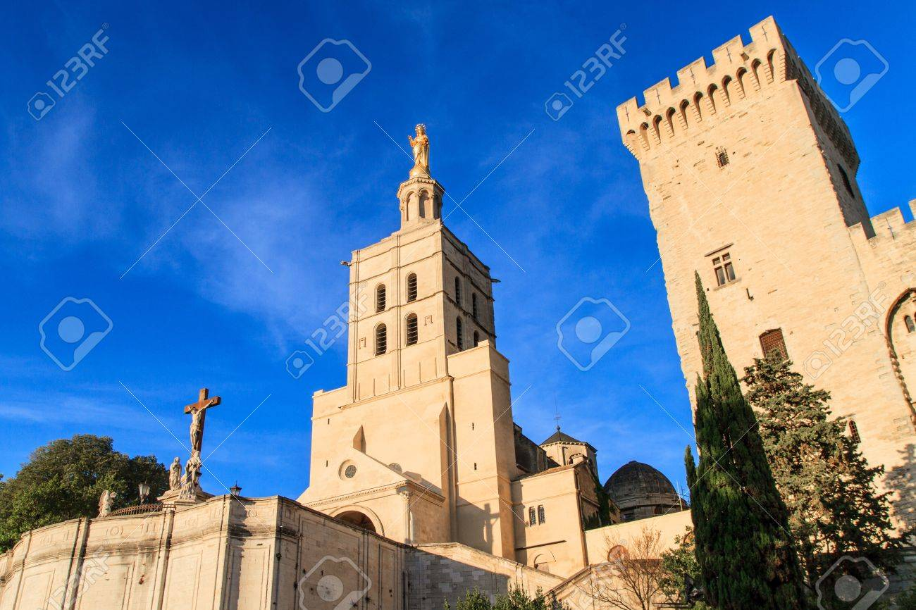 Avignon - Notre Dames des Domes Church near Papal Palace, Provence, France Stock Photo - 16392729
