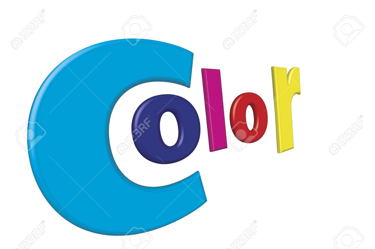 Print Color Letters Illustration With Process Colors CMYK And
