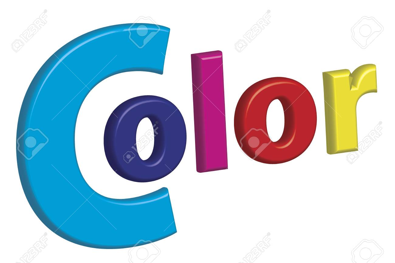 Print Color Letters Illustration With Process Colors CMYK And ...
