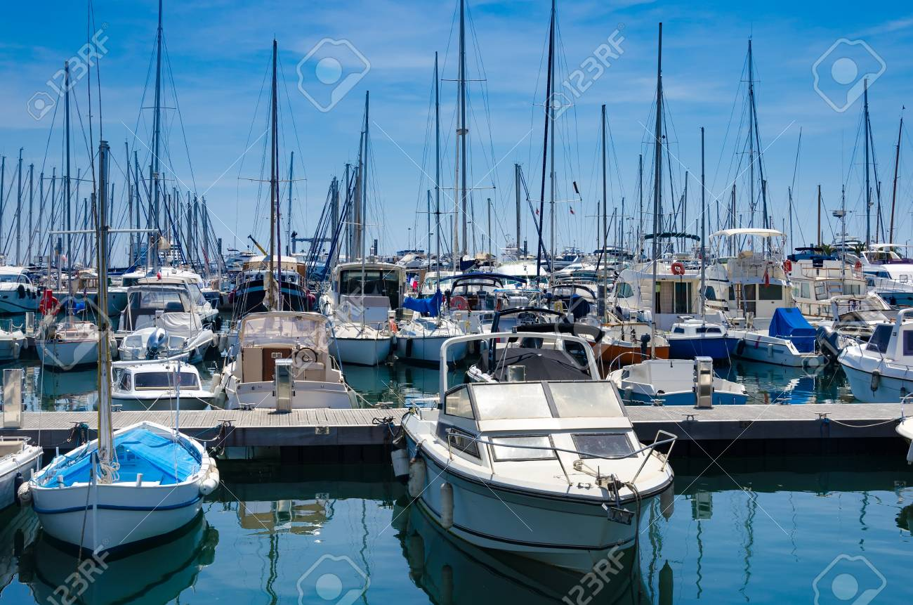 Port And Harbor In Saint Tropez One Of The Most Popular