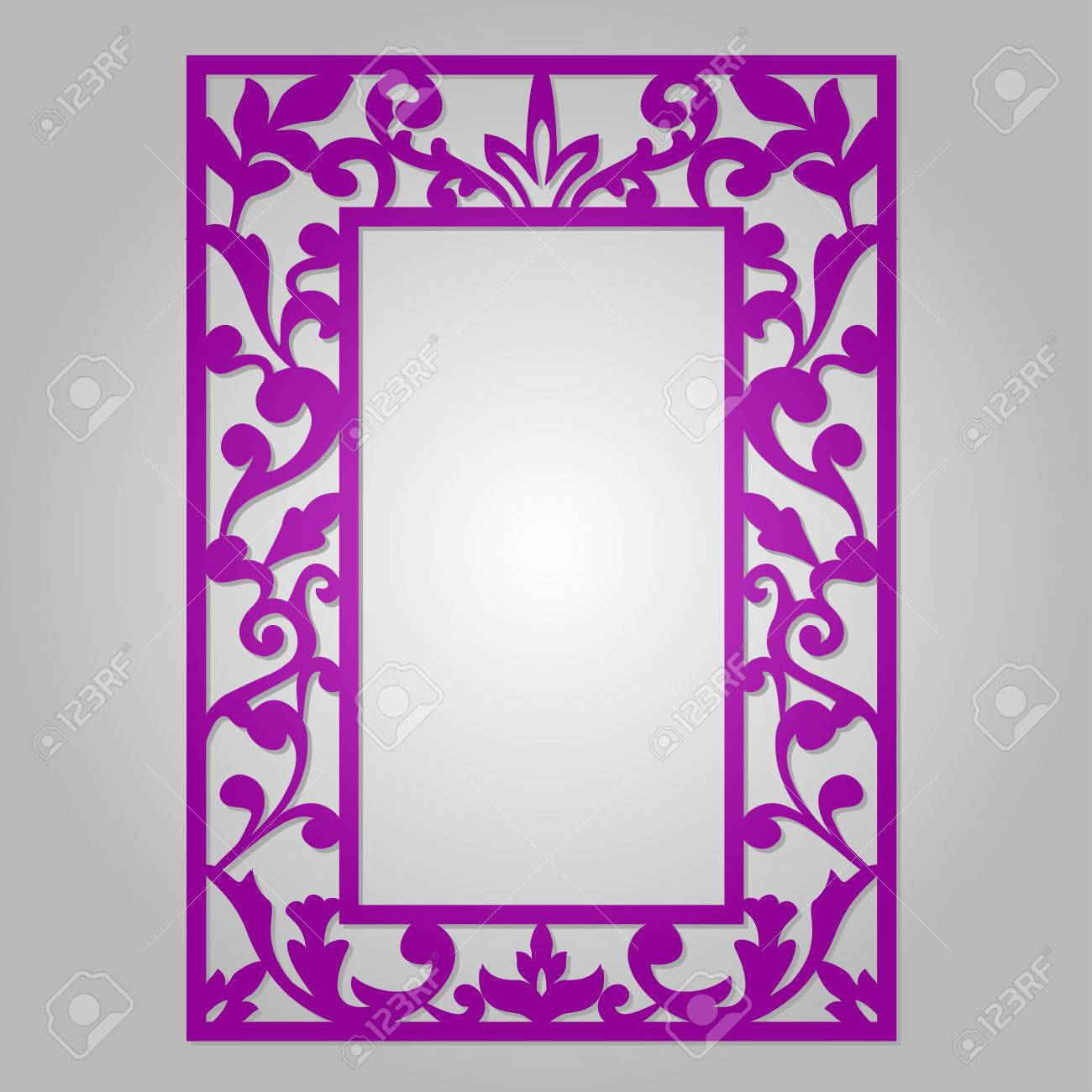 Vector ornamental cutout panel for laser cutting filigree cutout vector ornamental cutout panel for laser cutting filigree cutout frame wood carving for photo jeuxipadfo Image collections