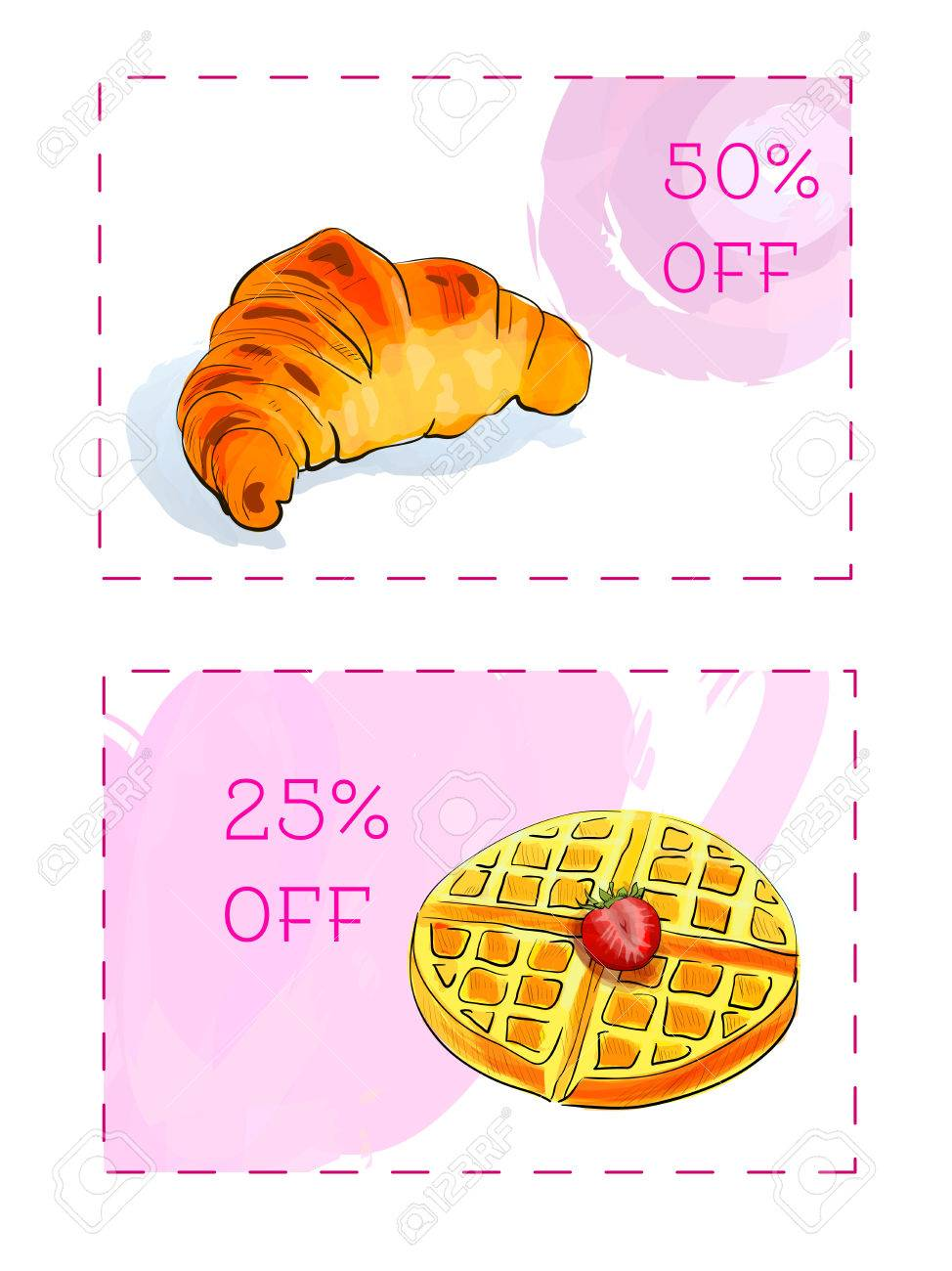 discount coupons for dessert vector template discount voucher discount coupons for dessert vector template discount voucher isolated on a white background stock