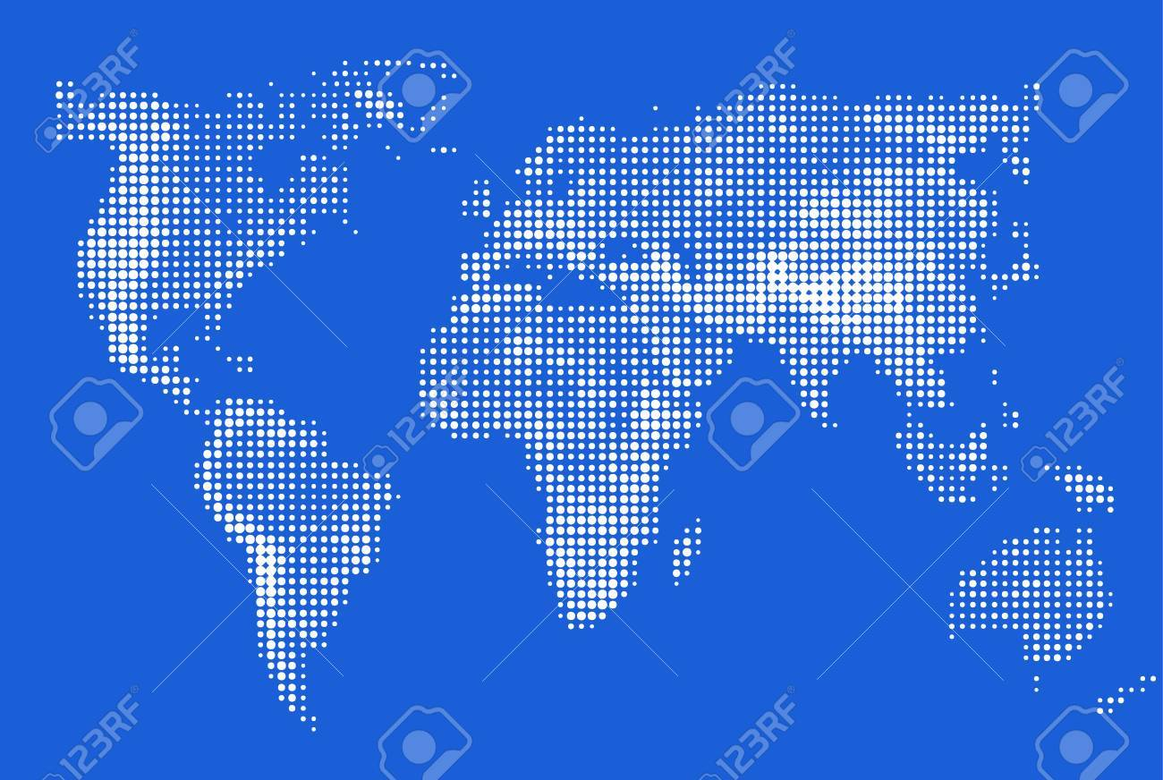 Abstract stylized image of world map dotted world map made abstract stylized image of world map dotted world map made circular pixel world maps gumiabroncs Choice Image