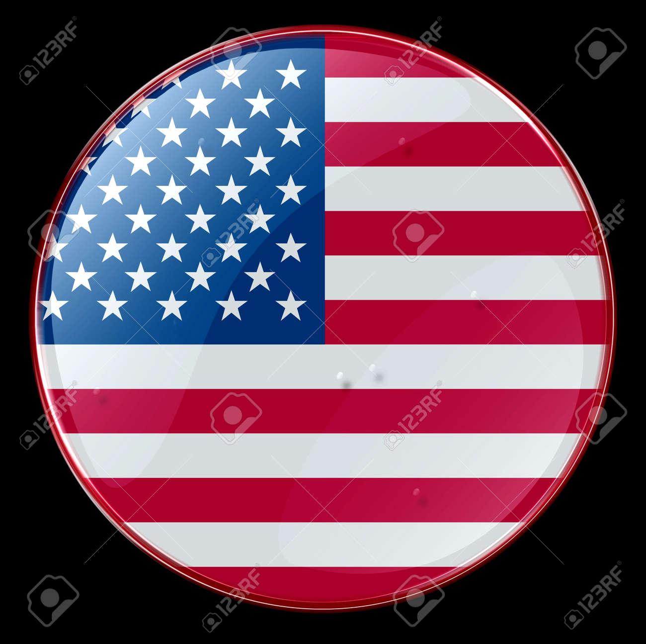 US Flag Button Stock Photo - 855830
