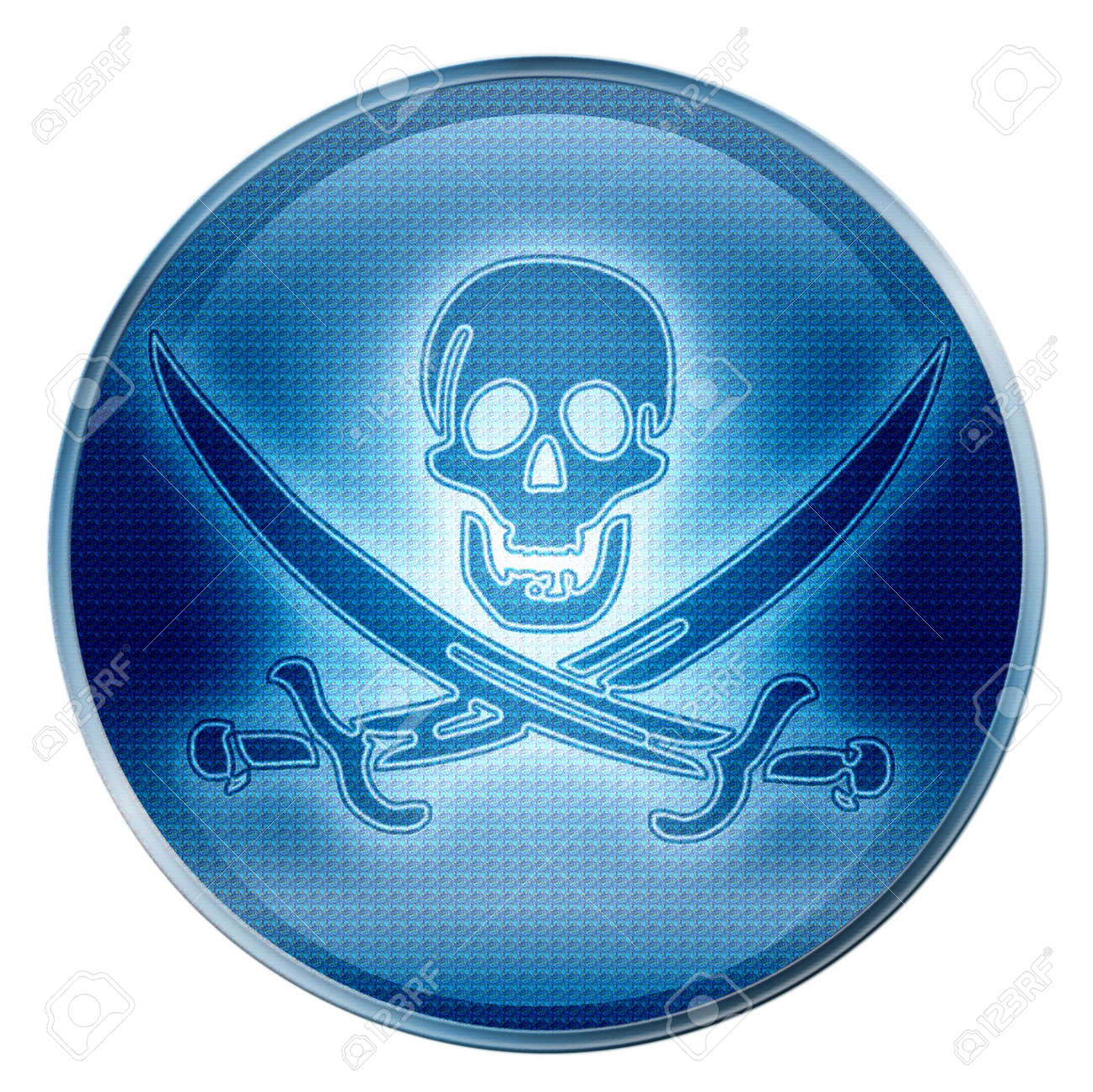Pirate icon. (With Clipping Path) Stock Photo - 997880