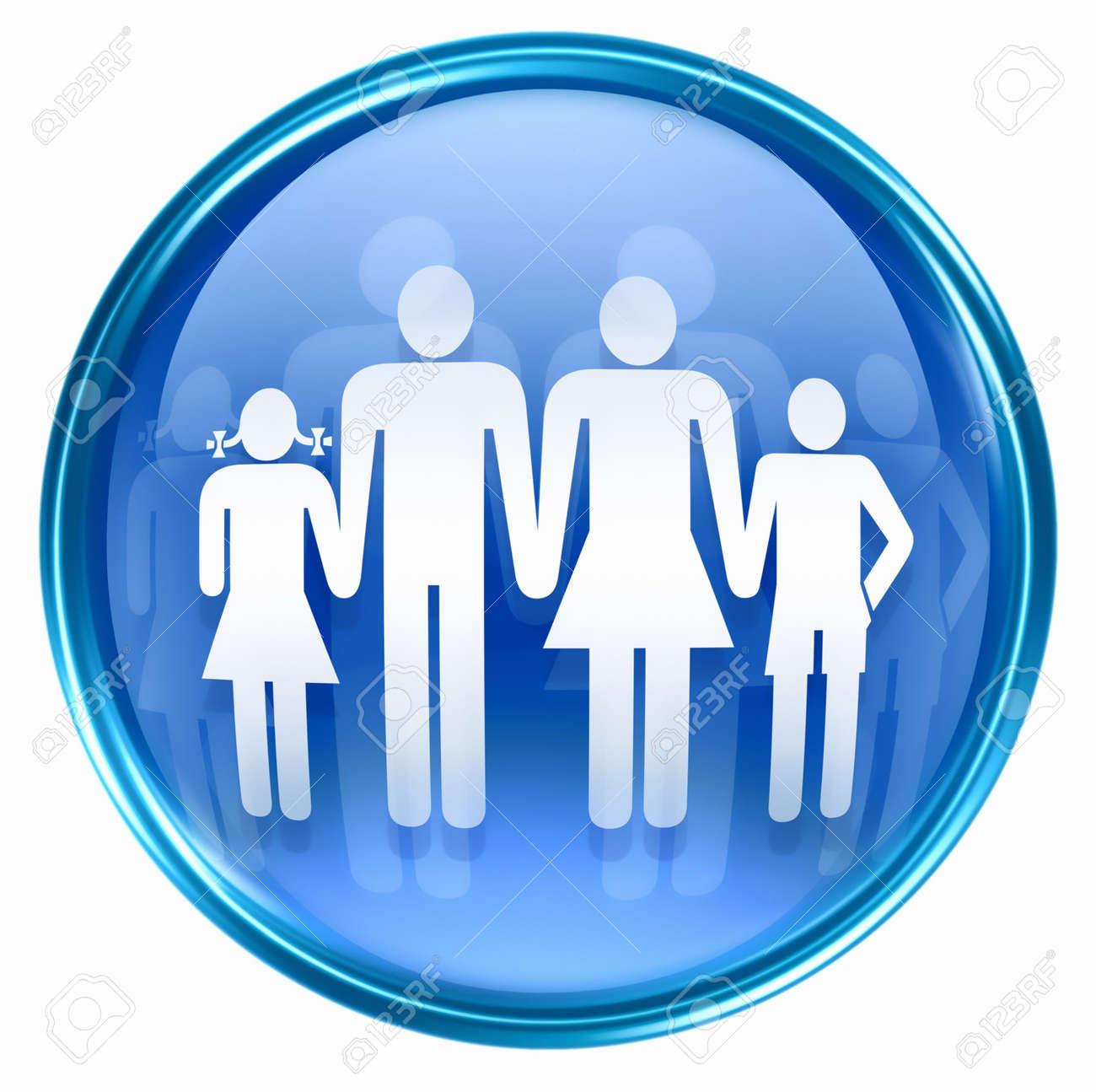 people icon blue, isolated on white background. Stock Photo - 2854941