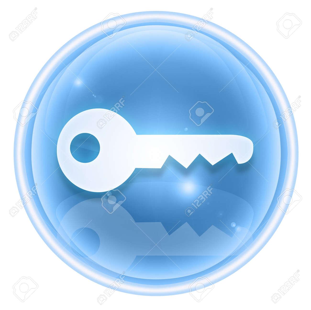 Key icon ice, isolated on white background Stock Photo - 4525834