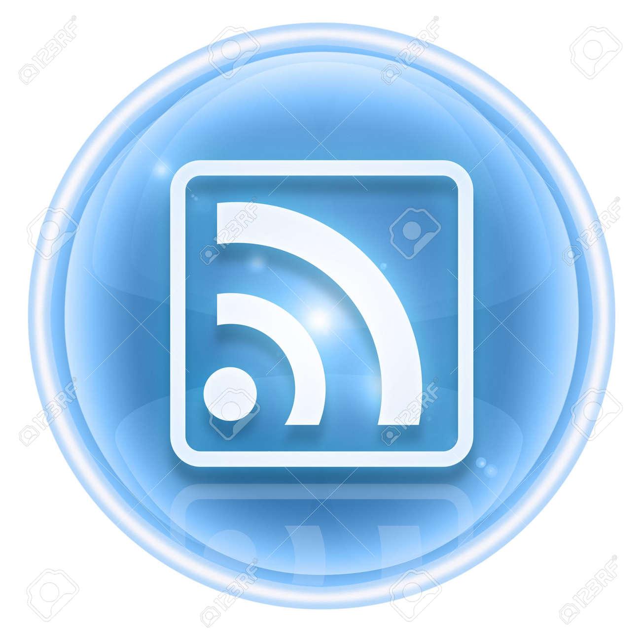 WI-FI icon ice, isolated on white background Stock Photo - 4582719