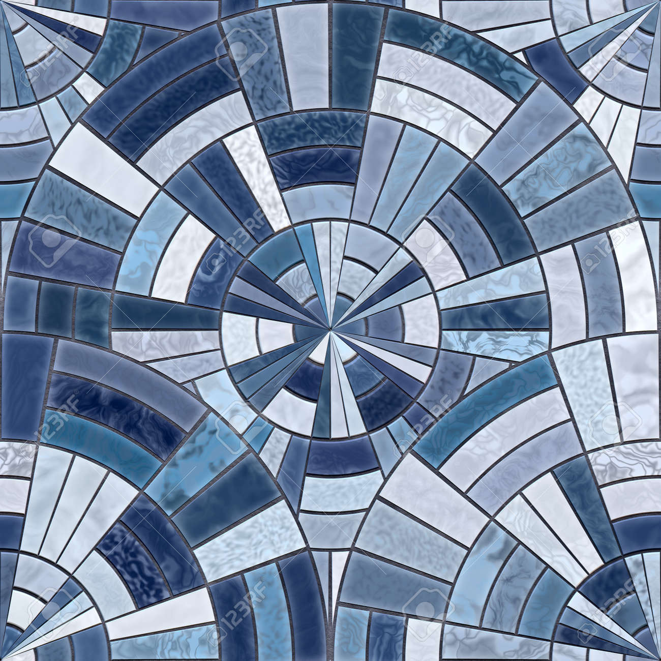radial mosaic tiles seamless textures stock photo picture and