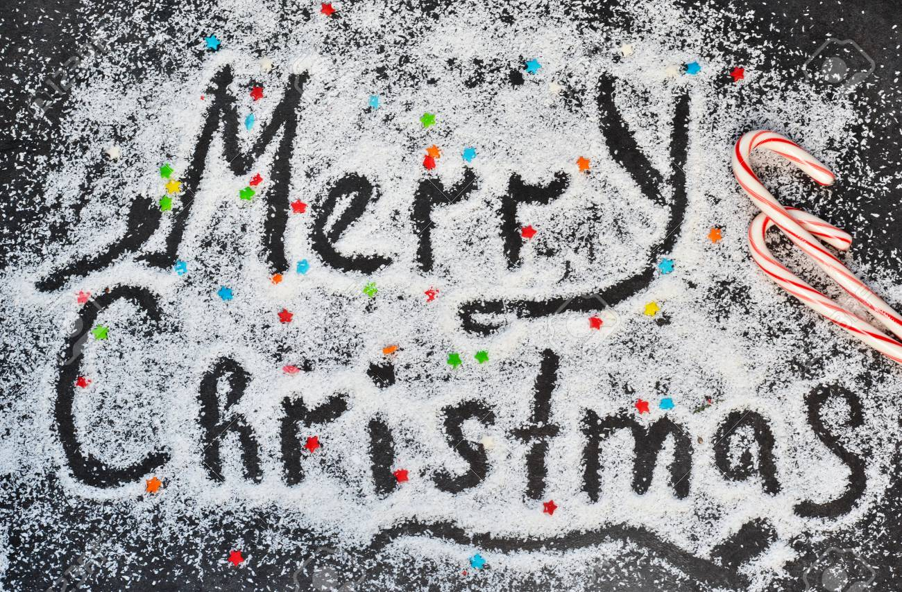 Christmas Graffiti Background.Christmas Background With The Words