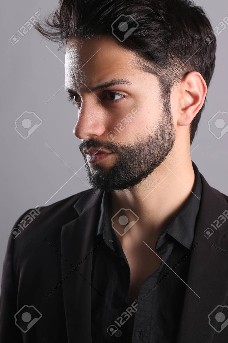Handsome Man With A Low Fade Haircut Stock Photo Picture And