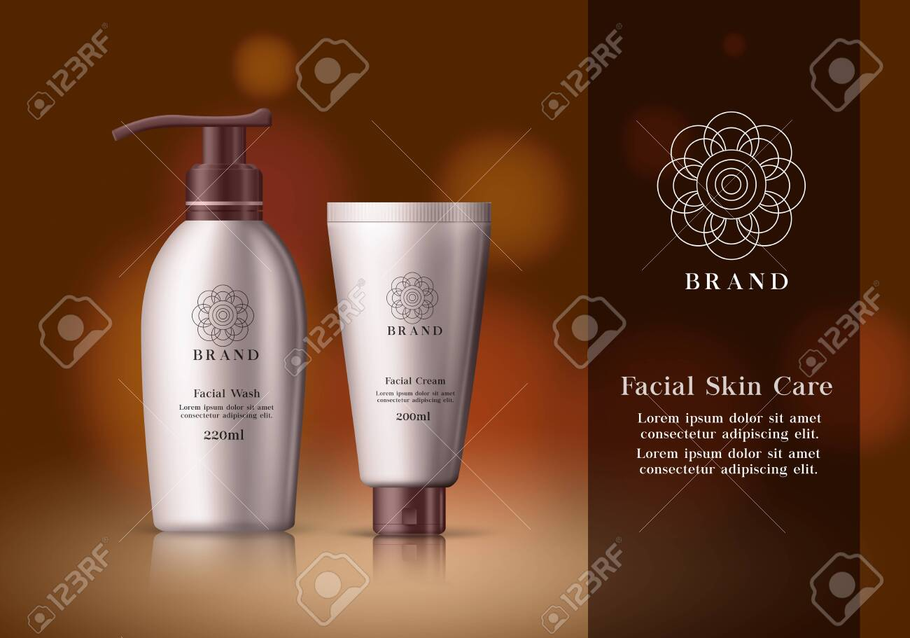 Skin Care Cosmetics Vector Banner Template Facial Cosmetic Products Royalty Free Cliparts Vectors And Stock Illustration Image 140540006