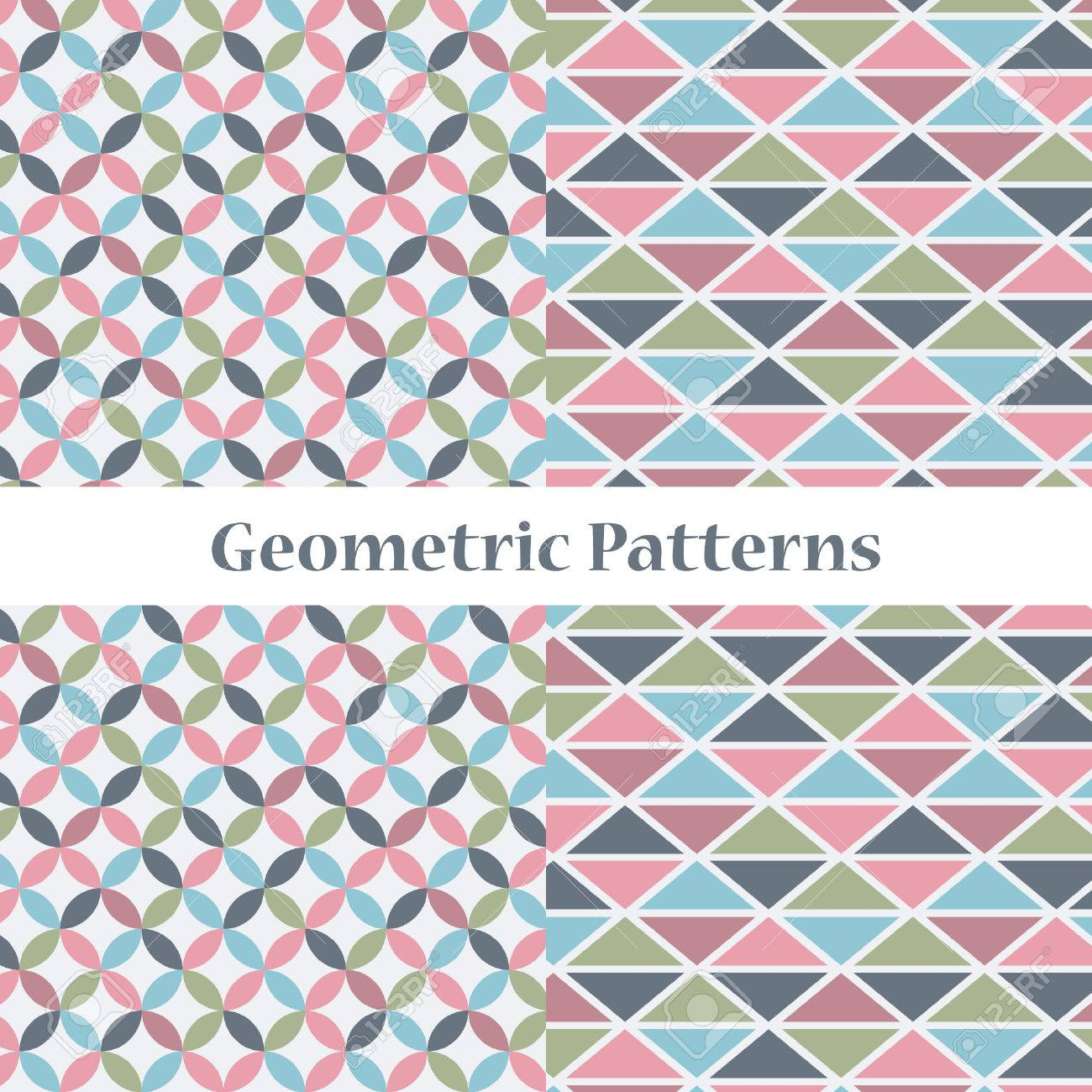 Two Simple Geometric Patterns In One Delicate Palette Stock Vector    54367039