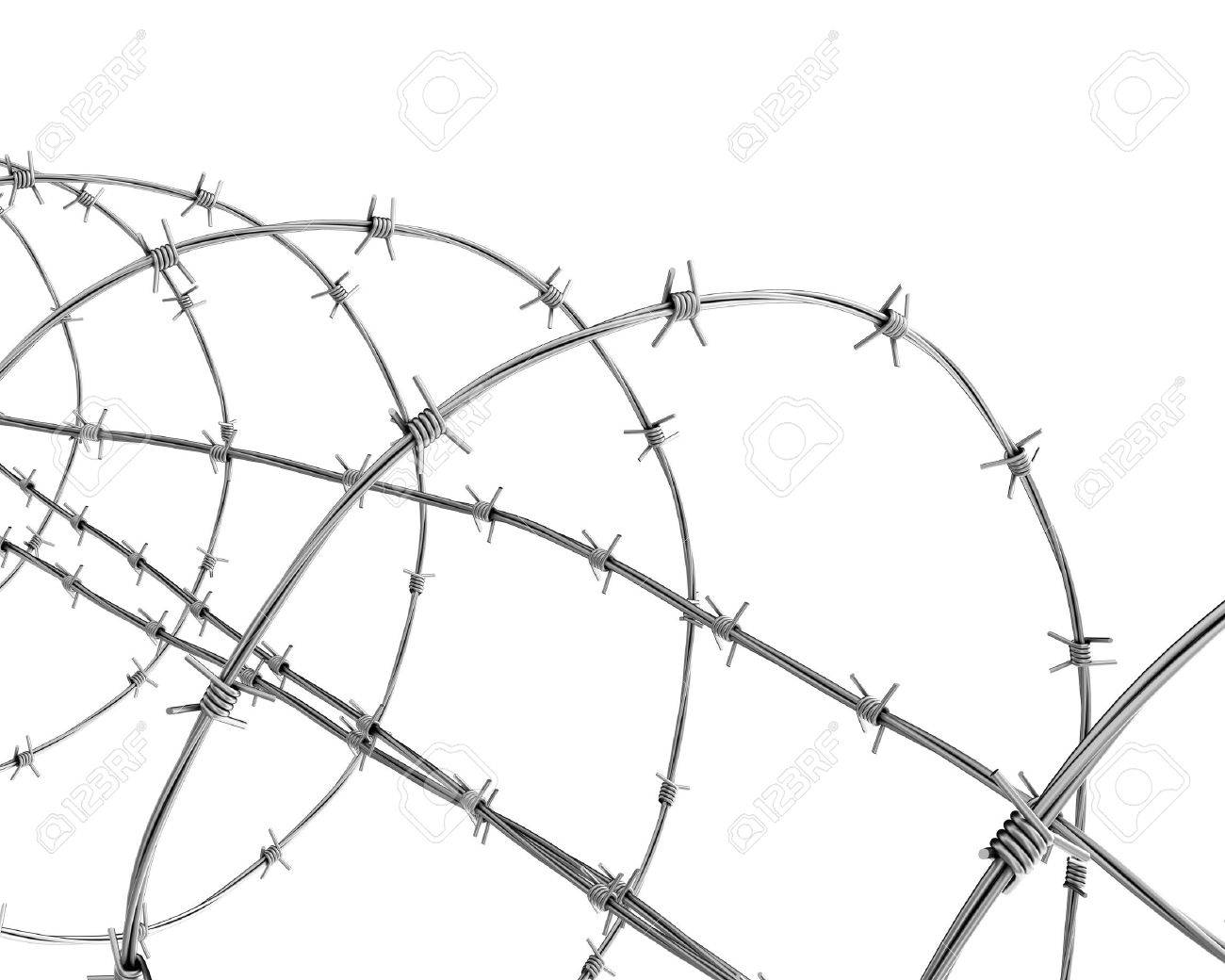 Barbed Wire Closeup Stock Photo, Picture And Royalty Free Image ...