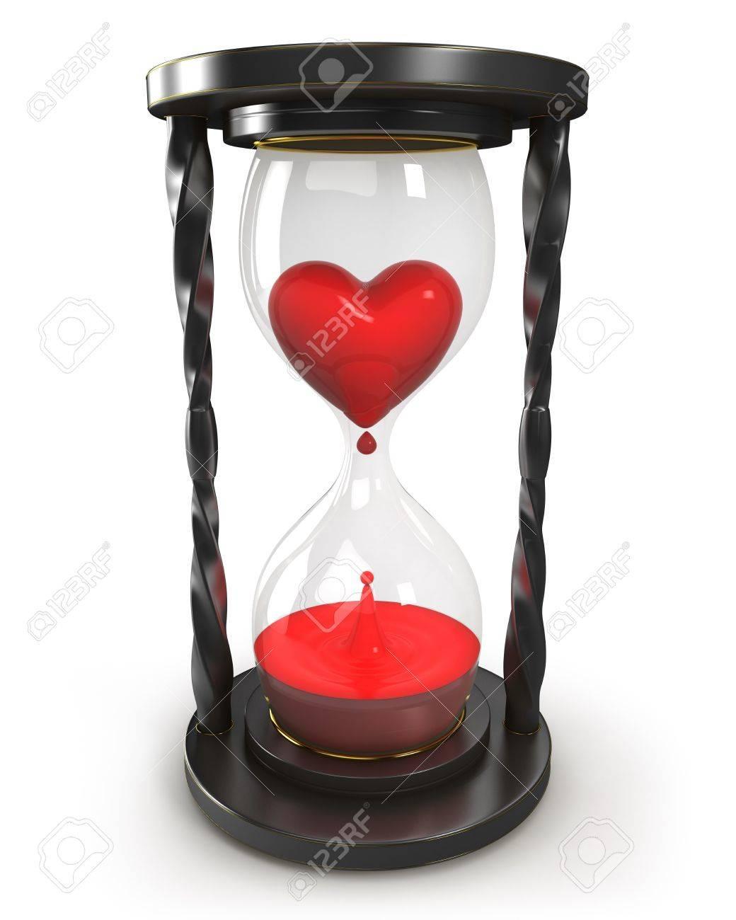 Reloj De Arena Con Corazón Y Sangre Fotos Retratos Imágenes Y