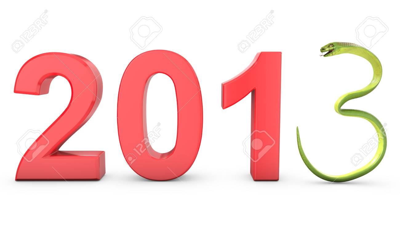 Green cobra 2013 symbol, isolated on white background Stock Photo - 16294326
