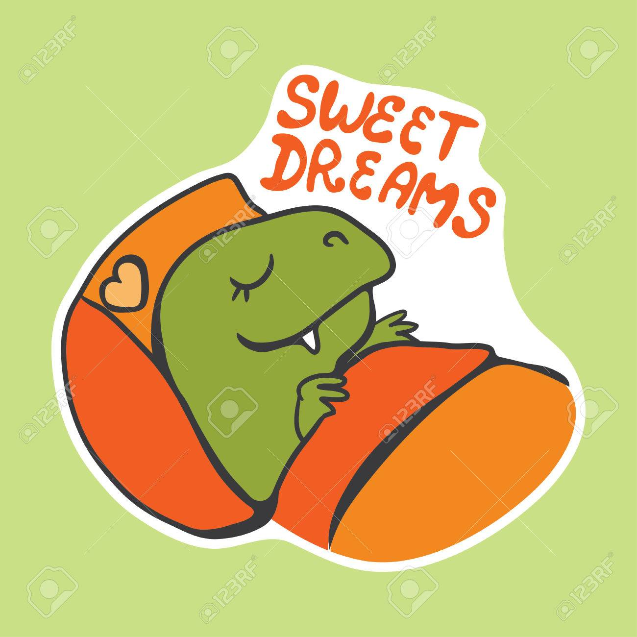 Image of: Vector Image Vector Vector Sticker With Cute Cartoon Sleeping Dinosaur 123rfcom Vector Sticker With Cute Cartoon Sleeping Dinosaur Royalty Free