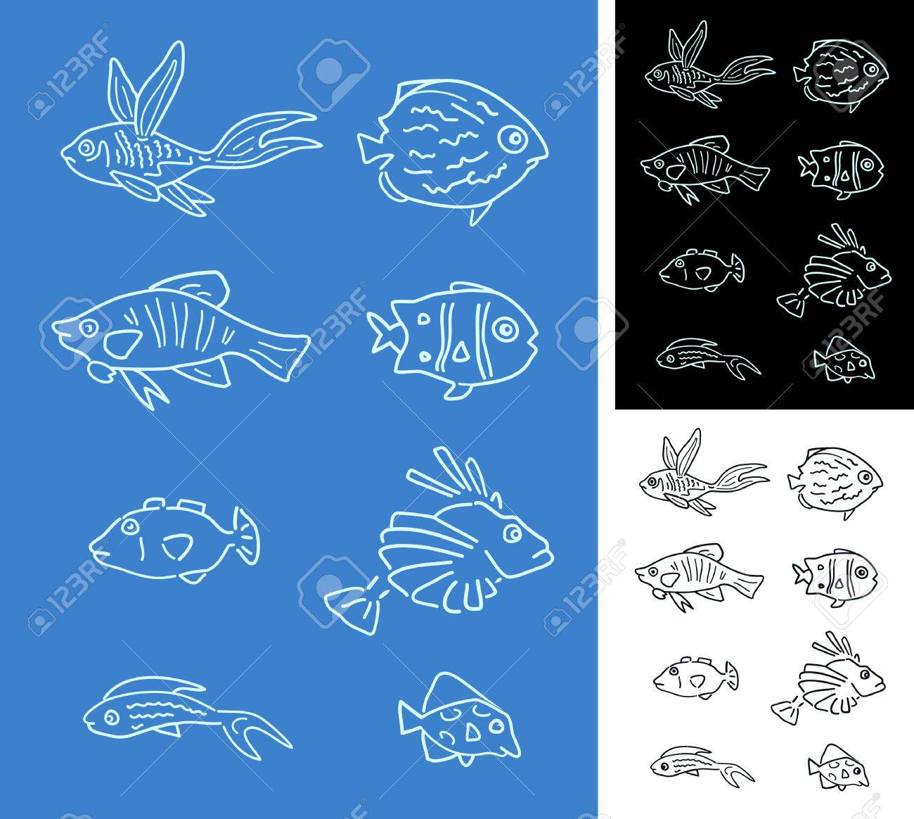 Set of fishes Stock Vector - 4182418