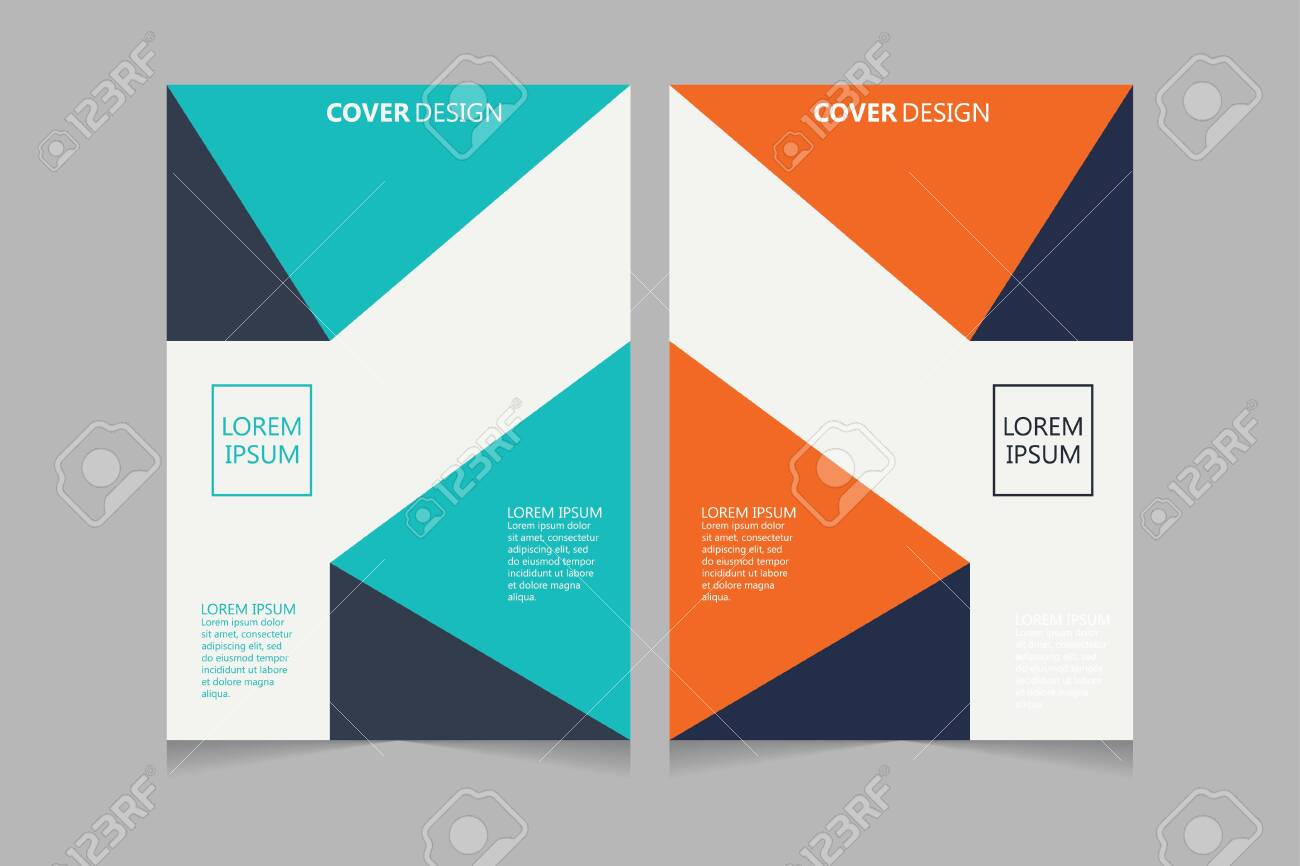 Annual report, pamphlet, presentation, brochure. Front page, book cover layout design. Cover design template. Abstract Cover Design. - 136082110