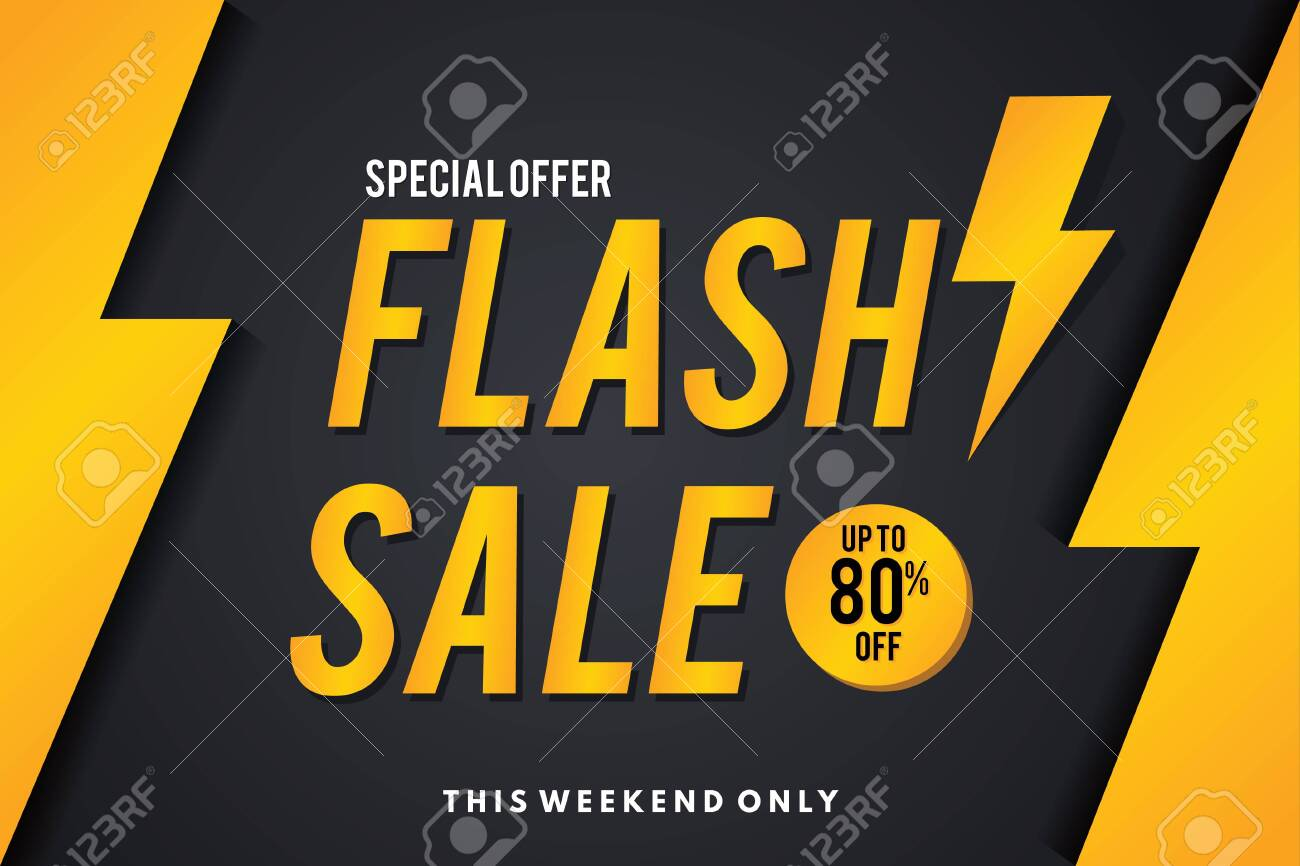 Sale Banner. Flash Sale Banner Template Design. - 136224940